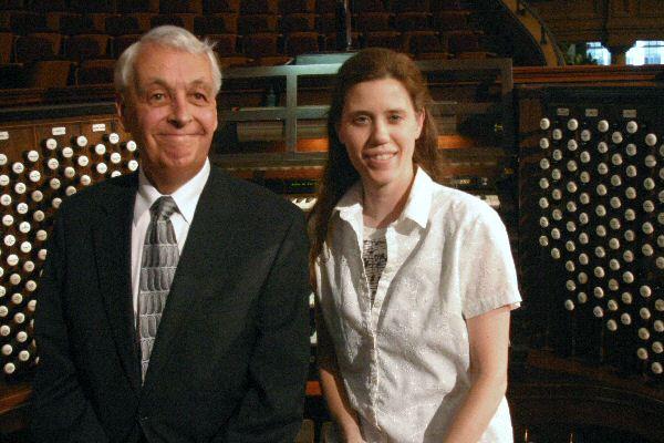 Clay Christiansen & Amy at Tabernacle Organ